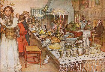 La fiesta del Julaftonen (Nuechebuena) en Suecia