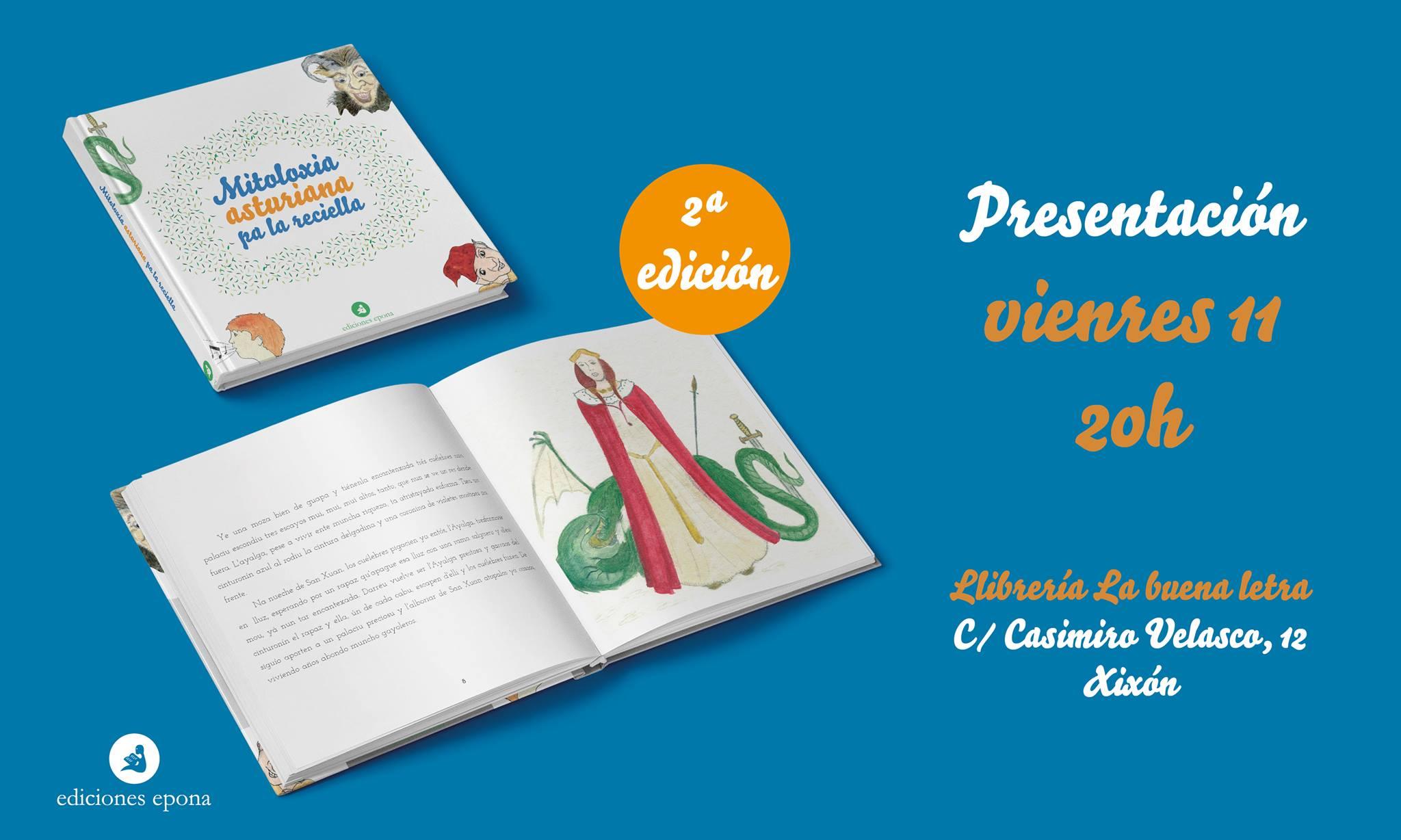 Cartelu presentación 'Mitoloxía asturiana pa la reciella'