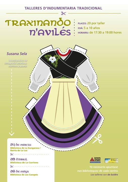 La Estaya de la Llingua d'Avilés entama talleres pa la reciella sobre indumentaria tradicional