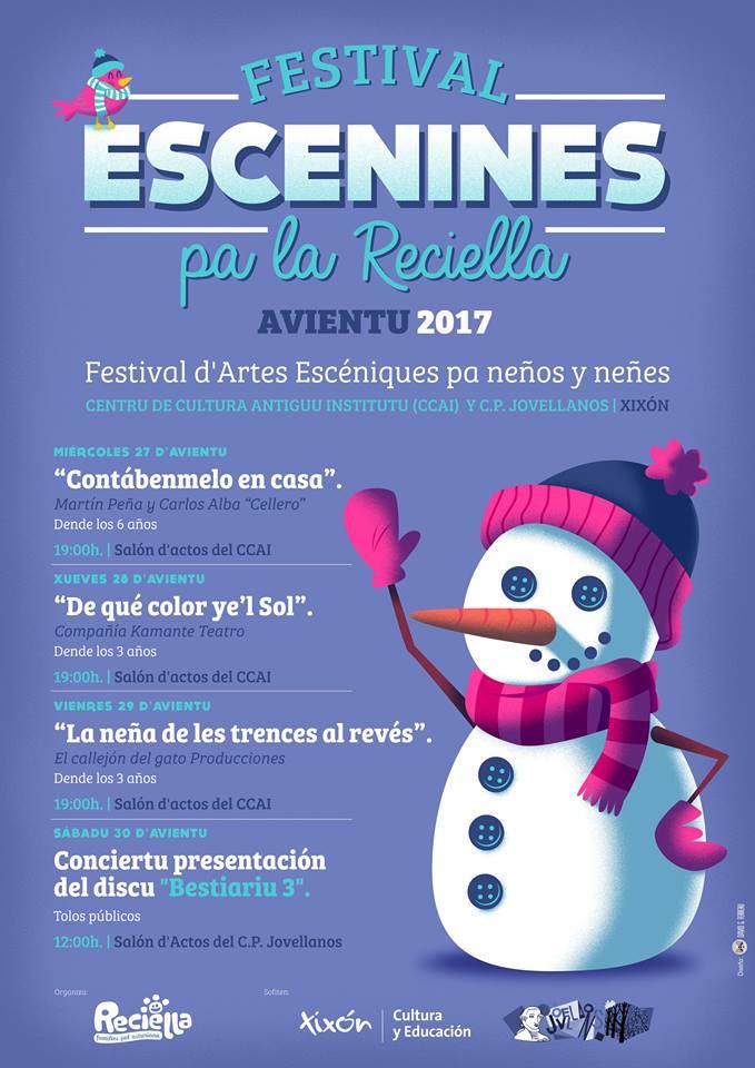 Cartelu V Festival Escenines pa la Reciella
