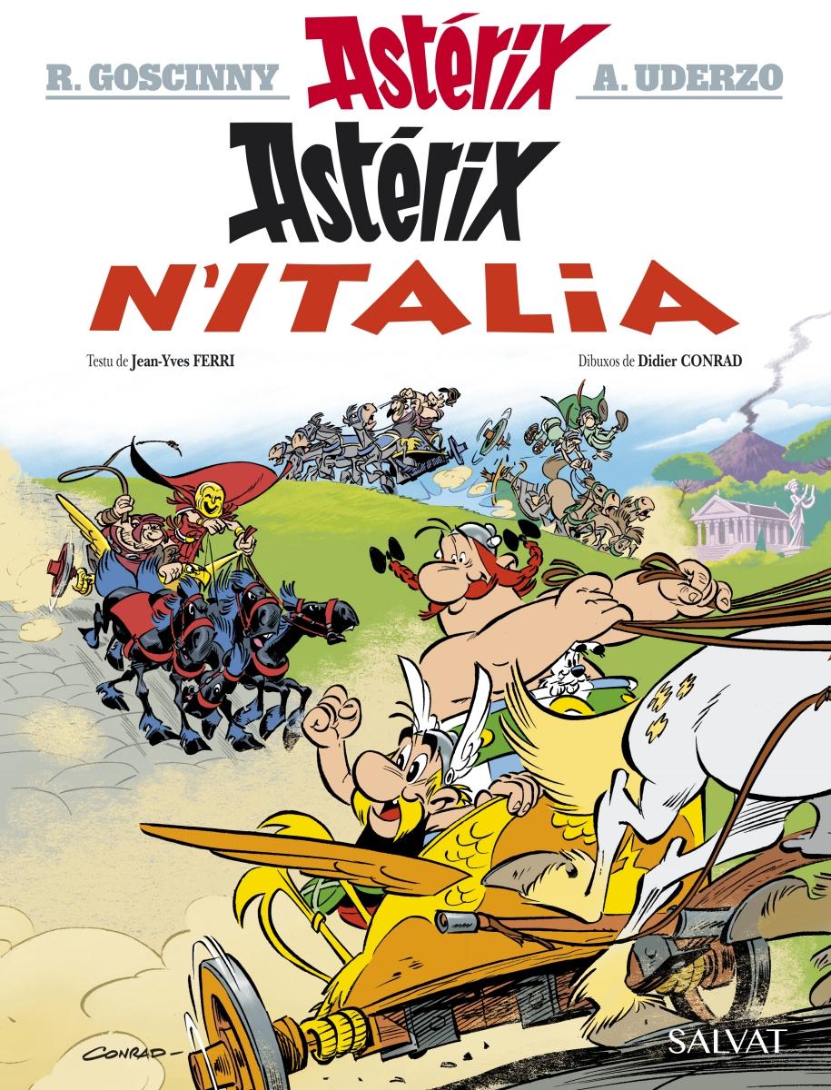 Astérix viaxa a la Península Itálica na so aventura nueva
