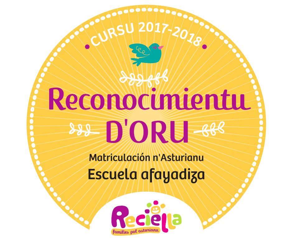 Reconocimientu d'Oru Reciella 2017-2018
