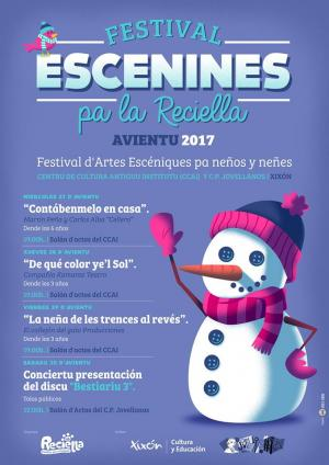 El Festival Escenines pa la Reciella programa cuentacuentos, teatru y música pa esta Navidá
