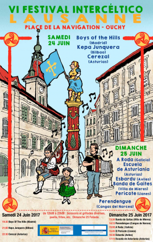 El Centro Asturiano de Lausanne celebra'l so festival intercélticu
