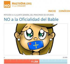 Hazteoir moviliza na rede contra l'asturianu firmes de la ultraderecha española