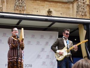 """Leticia Baselgas (L-R): """"Entendemos la música tradicional asturiana como daqué vivo y en progreso"""""""