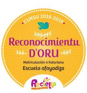 Reconocimientu d'oru Reciella 2018-2019