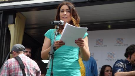 Cotiello va ser la pregonera de la XXIII Fiesta de la Oficialidá de la Llingua Asturiana en Bimenes