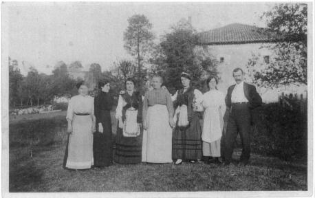 Aldeanes en La Florida sobre 1900