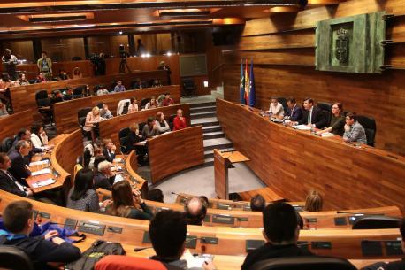 Actu institucional de la XXXIX Selmana de les Lletres Asturianes