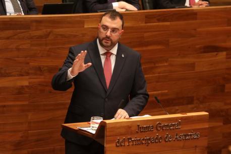 Adrián Barbón discursu Plenu d'Investidura