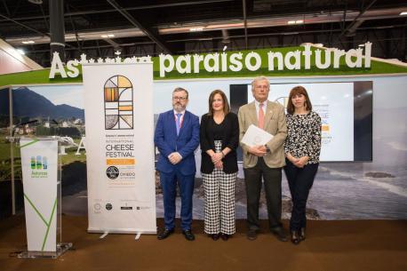 Alfredo García Quintana, Begoña López, Santiago Menéndez de Luarca y Luisa Villegas FITUR World Cheese Awards