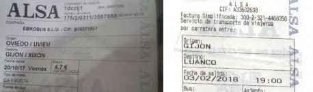 ALSA dexa d'usar la toponimia asturiana nos sos billetes