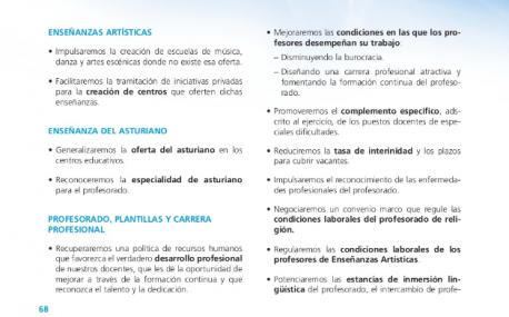 Asturianu programa eleutoral PP 2012