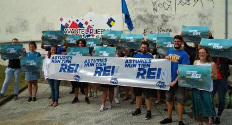 Marcha y concentración en Cangues pal 8 Setiembre