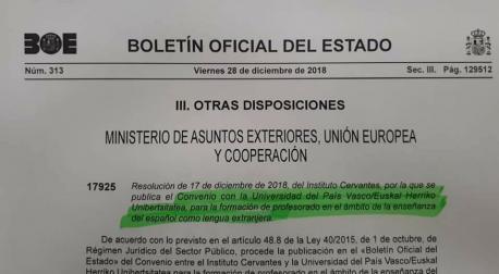 Bilordiu Instituto Cervantes y Euskal Herriko Unibertsitatea