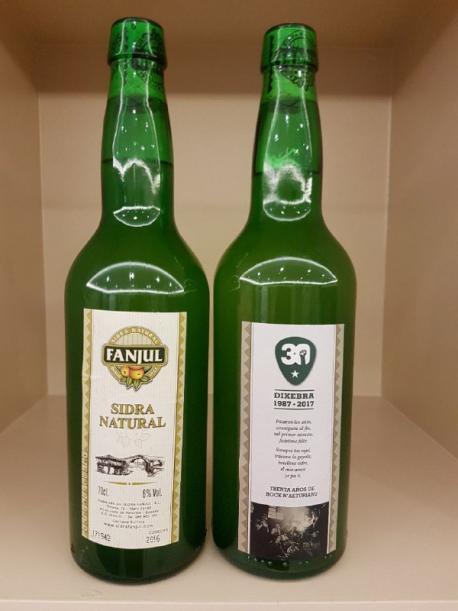 Botella de sidra conmemorativa Dixebra Fanjul