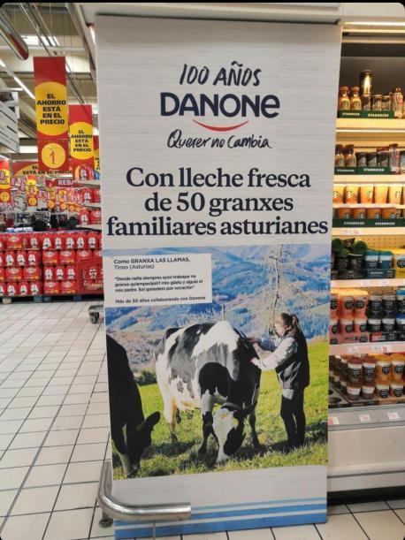 Campaña de Danone n'asturianu