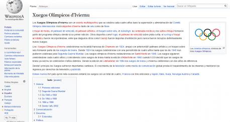 Captura Xuegos Olímpicos d'Iviernu Wikipedia