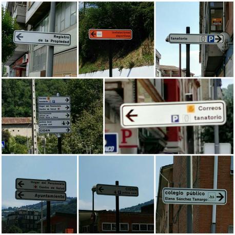 Llaviana instala cartelos indicativos nuevos nos que s'emplega namái'l castellanu