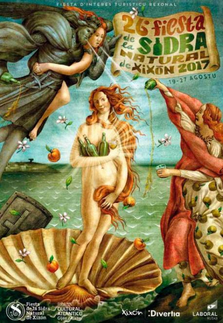 Cartelu de la XXVI Fiesta de la Sidra Natural de Xixón