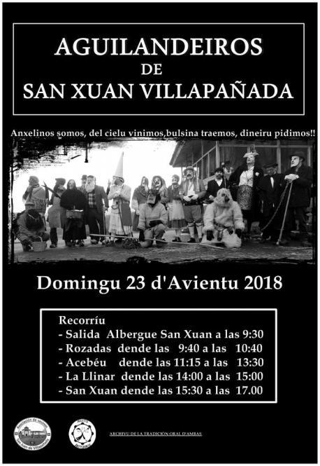 Cartelu Aguilandeiros de San Xuan de Villapañada 2018