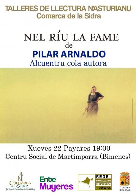 Cartelu alcuentru cola autora Pilar Arnaldo en Bimenes 25-P