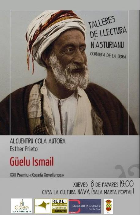Cartelu Alcuentru colos Llectores Nava 'Güelu Ismail' Esther Prieto
