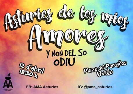 Cartelu 'Asturies de los mios amores y non del so odiu'