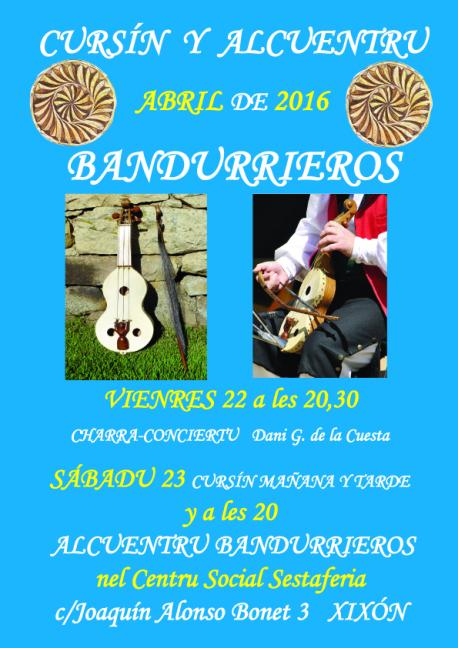 Cartelu bandurria asturiana en Sestaferia