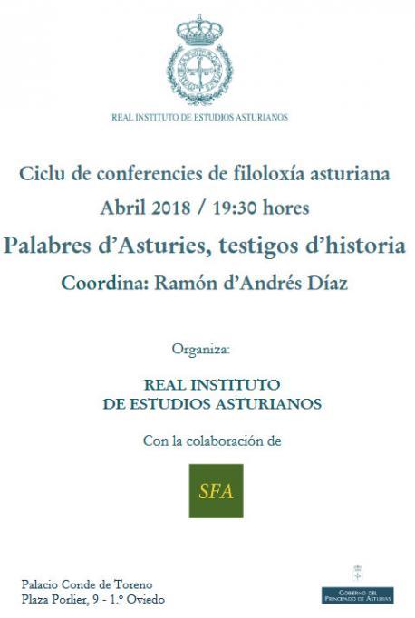 Cartelu ciclu 'Palabres d'Asturies, testigos d'historia' RIDEA y SFA