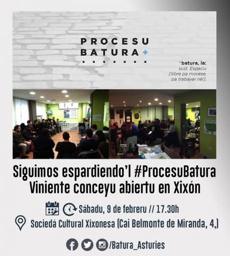 Cartelu conceyu abiertu de Xixón de Procesu Batura