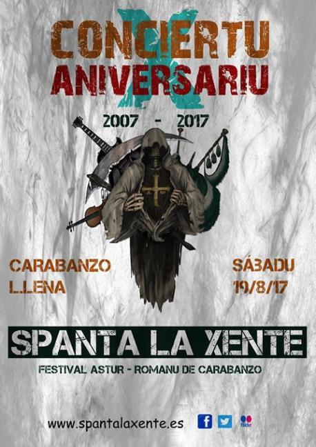 Spanta la Xente celebra diez años en Carabanzo