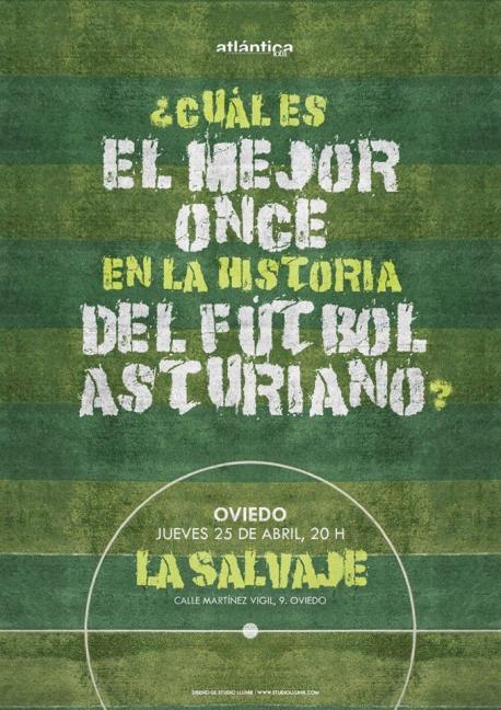 Cartelu 'Cuál es el mejor once en la historia del fútbol asturiano'