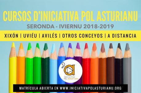 Cartelu cursos d'Iniciativa pol Asturianu seronda 2018