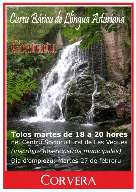 Cartelu Cursu Básicu de Llingua Asturiana Corvera 2018