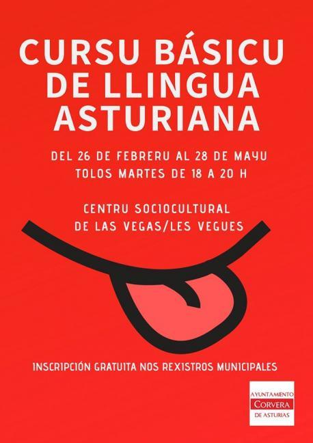 Cartelu Cursu Básicu de Llingua Asturiana de Corvera 2019