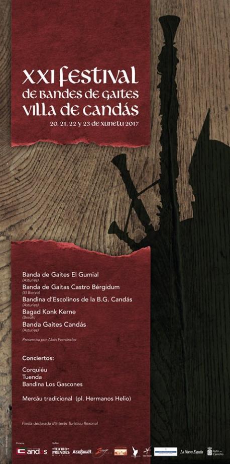 Cartelu del XXI Festival de Bandes de Gaites Villa de Candás