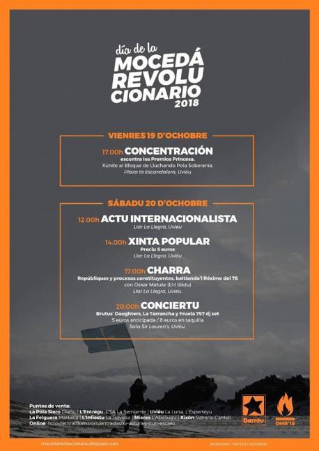 Cartelu Día de la Mocedá Revolucionario (DMR) 2018
