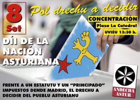 Andecha Astur va entamar un referéndum simbólicu'l Día d'Asturies