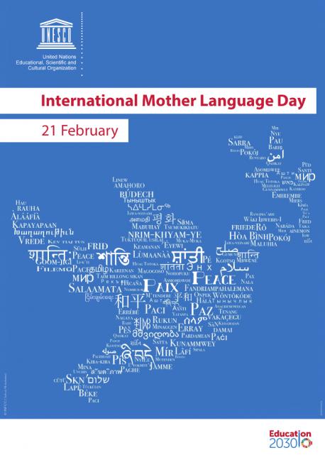 Cartelu Día Internacional de la Llingua Materna 2019