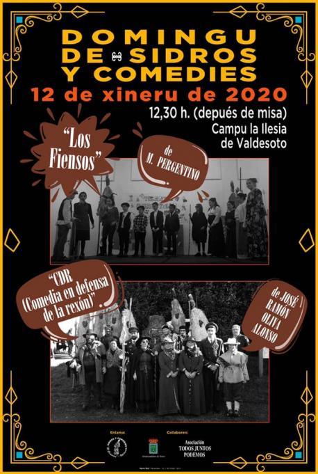 Cartelu Domingu de Sidros y Comedies 2020