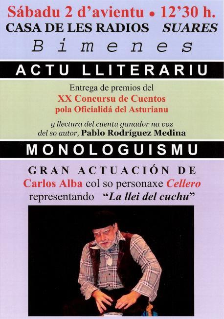 Rodríguez Medina gana'l XX Concursu de Cuentos pola Oficialidá del Asturianu de Bimenes