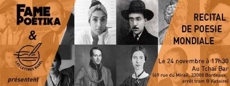 Cartelu Fame Poétika en Bordeu
