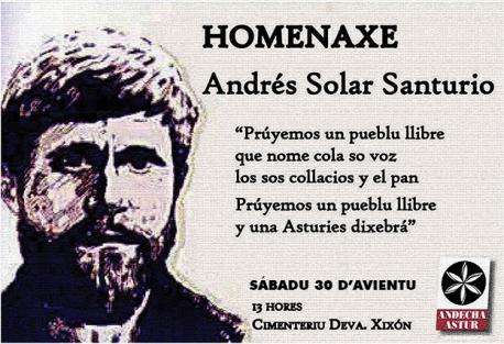 Cartelu homenaxe Andrés Solar 2017