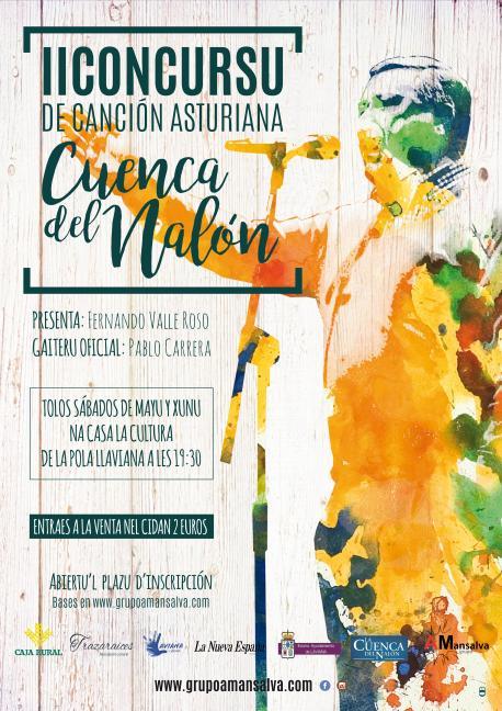 El vienres, día caberu pa presentase al II Concursu de Canción Asturiana Cuenca del Nalón