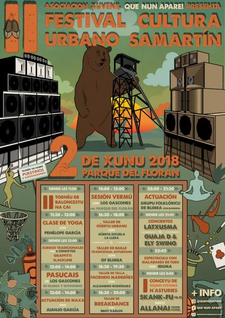 Cartelu II Festival de Cultura Urbano de Samartín