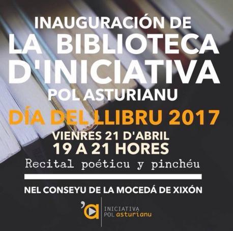 Iniciativa pol Asturianu abre una biblioteca