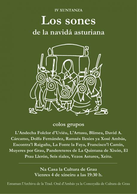 Cartelu IV Xuntanza Los Sones de la Navidá Asturiana