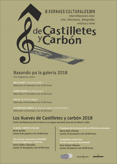 Cartelu IX Xornaes Culturales De Castilletes y Carbón